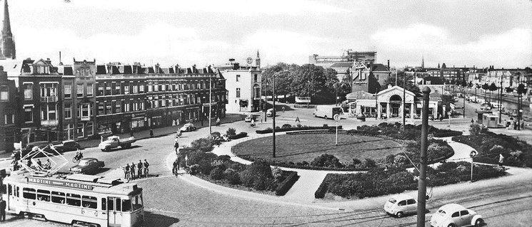 Bedwelming Rijswijkseplein Den Haag (jaartal: 1960 tot 1970) - Foto's SERC #JA78