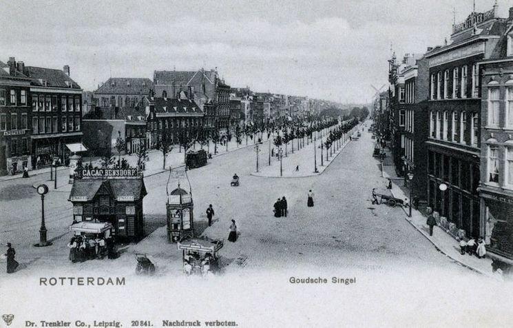 Goudsesingel Rotterdam (jaartal  1910 tot 1920)   Foto u0026#39;s SERC